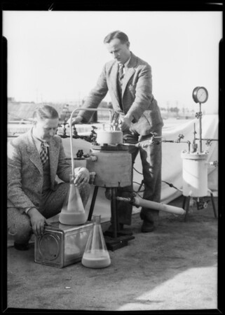 Tests at refinery, Southern California, 1934