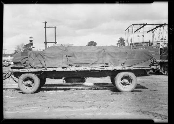 Belyea truck & trailer, Southern California, 1932