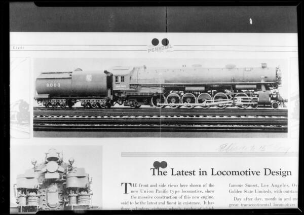 Locomotive, Southern California, 1932