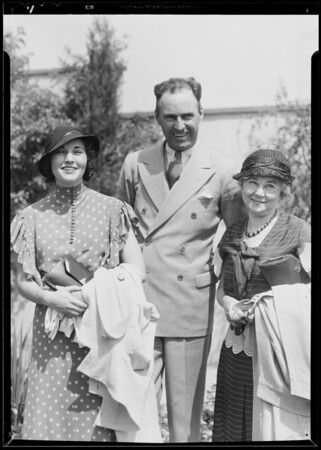 Madame Moisant - Art Gobel - Ruth Elder, California Breakfast Club, Southern California, 1933