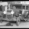 Chevrolet sedan, M. Polachek and intersection, Magnolia Boulevard and Bakman Avenue, North Hollywood, Southern California, 1932