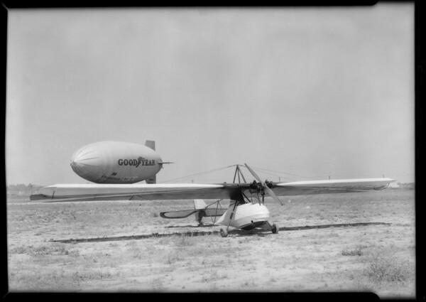 New ship and motor, Southern California, 1931