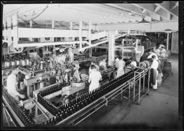 Interior of plant, Southern California, 1933