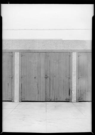 Private garage at 333 Sierra Bonita Avenue, Los Angeles, CA, 1933
