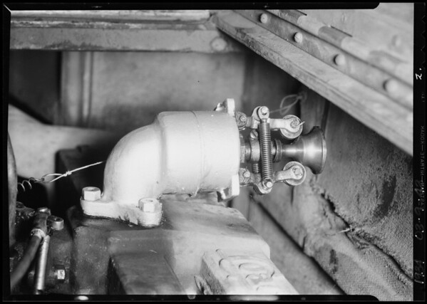 Gas eliminators installed in L.C. railway coach, Southern California, 1934