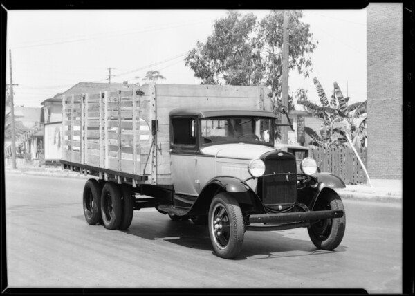 Ford stake body truck, Southern California, 1931
