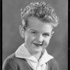 Portrait of boy, Southern California, 1934