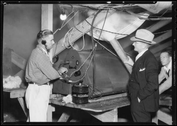 Fog machine, Southern California, 1934