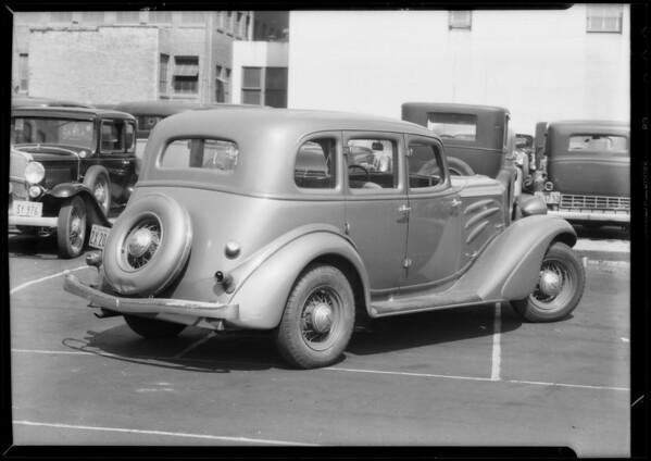 Auburn sedan, Sol Bloome, owner, Southern California, 1934