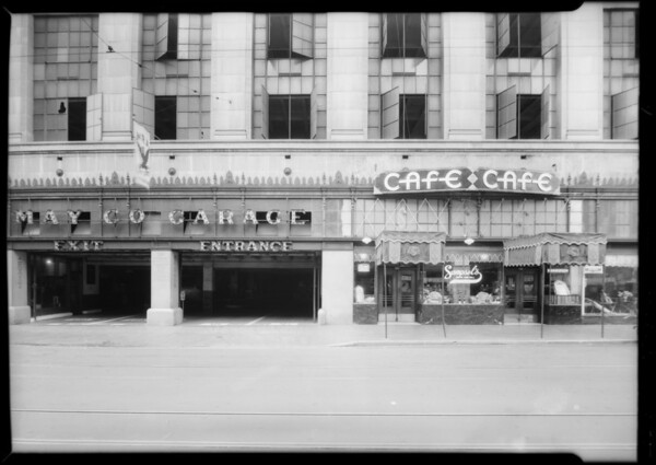 May Co. garage & Sampsel's cafe, Mrs. Lafferty vs. May Co., Los Angeles, CA, 1934