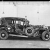 Wrecked Cadillac at Copple Brothers Auto Works, Southern California, 1932