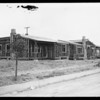 Leimert Park apartment houses under construction, Los Angeles, CA, 1928