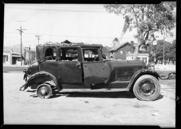 Cartercar hit, Southern California, 1932