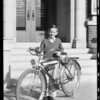 Bicycle winner, Southern California, 1934