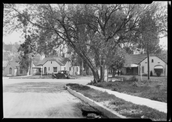 Houses at Oakcrest over Cahuenga Pass, Los Angeles, CA, 1927