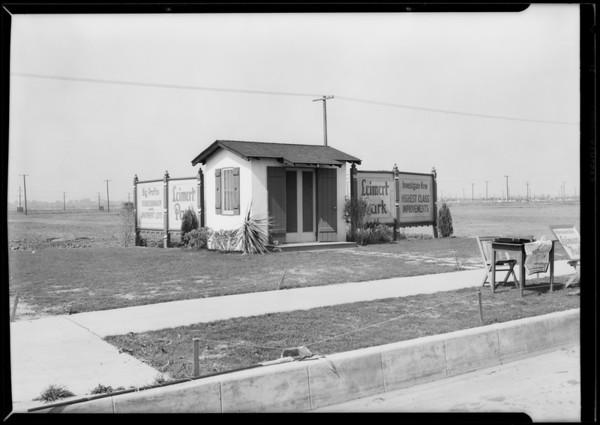 Signs, Leimert Park, Los Angeles, CA, 1927