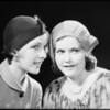 Two girls gossiping, Southern California, 1932