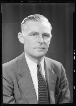 Portrait of Mr. Warren S. Girardin, Southern California, 1933