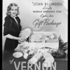 Joan Blondell counter card, Vernon Pottery, Southern California, 1938