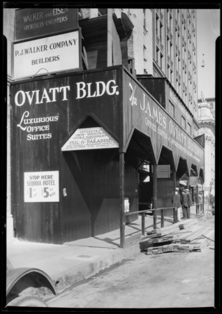 Oviatt Building construction, Southern California, 1927