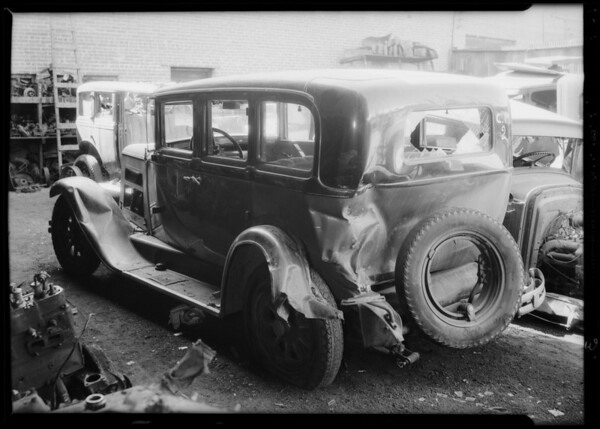 Nash sedan, P. D. Knettles, owner, Southern California, 1934