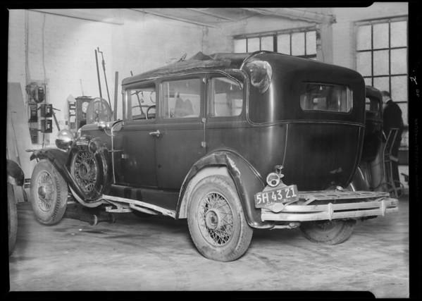 Chandler sedan, Earl F. Chapman, owner, Southern California, 1932