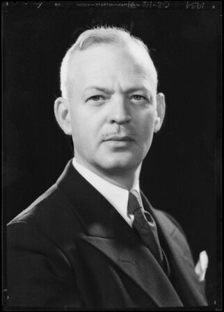Portrait of Mr. Dulin, Beverly Hills politician, Southern California, 1934