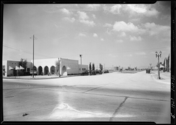Proposed market center at Leimert Park, Los Angeles, CA, 1928