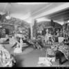 Cretonne display (fabric), Los Angeles, CA, 1925