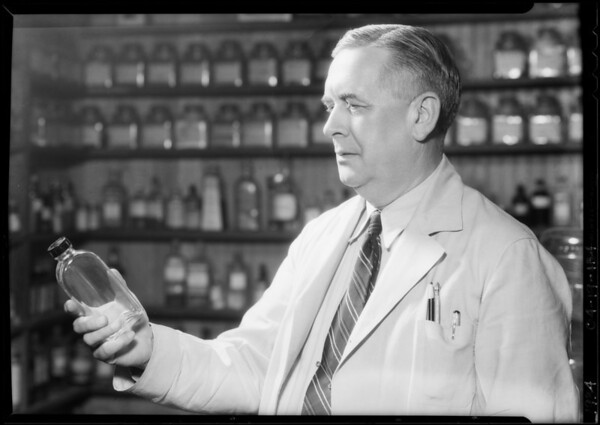 Mr. Donaldson, druggist, Southern California, 1934