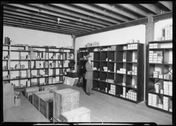 Shelving at Walker Electric, Southern California, 1925