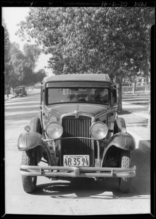 Nash sedan, Ida Hahn, owner & assured, Southern California, 1934