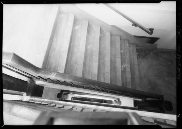May Company staircase, Southern California, 1934