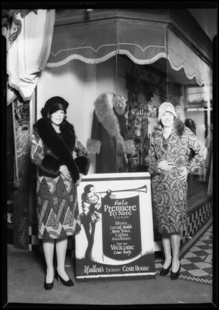Opening of Mullen's Coat House store, 517 West 7th Street, Los Angeles, CA, 1927