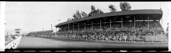 Horse racetrack, Southern California, 1928