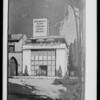 Drawing of restaurant at Leimert Park, Los Angeles, CA, 1928