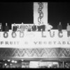 Opening new market, night shots, Southern California, 1928