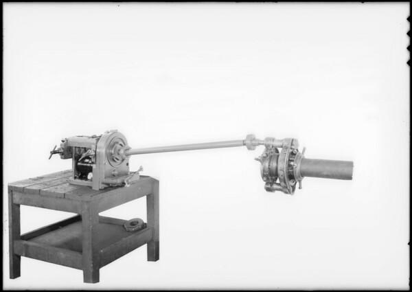 Portable threader, Southern California, 1932