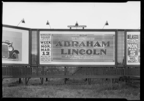 Billboard of Windsor Square Theater, Southern California, 1928