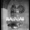 Chandelier at Elks Club, Southern California, 1926