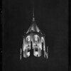 Los Angeles First National Bank, Hollywood Branch at night, Los Angeles, CA, 1928