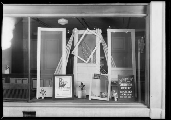Display of screen doors, Southern California, 1928
