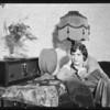 Stewart Warner radio & Betty Boyd, Southern California, 1926