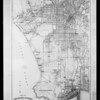 Map of Los Angeles environs, Southern California, 1928