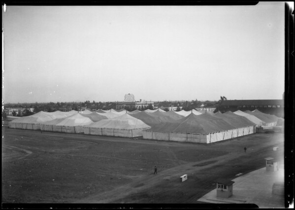 Tents - near Santa Barbara & Figueroa Street, Southern California, 1924