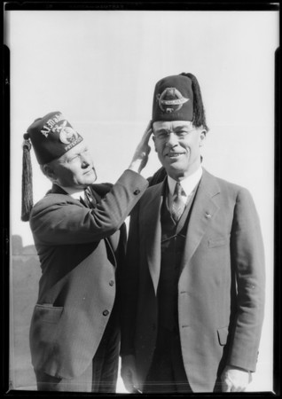 Potentate Gillette & Mayor Cryer, Los Angeles, CA, 1928