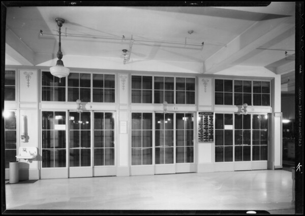 East elevator fronts, Los Angeles, CA, 1933