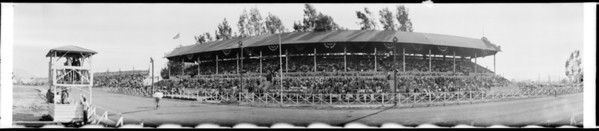Horse racetrack, Southern California, 1928