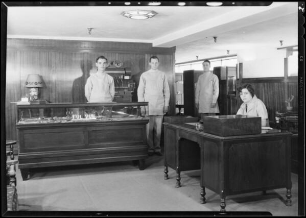Optical department, Broadway Department Store, Los Angeles, CA, 1931