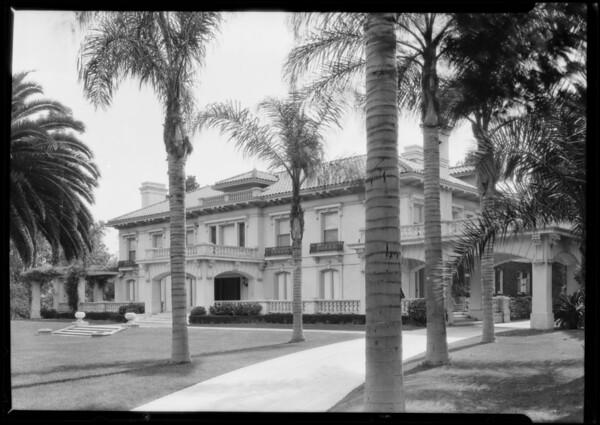 Home of Wringley, Jr., Pasadena, CA, 1925